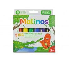 Восковые карандаши Malinos Wachsmal-Zauber 6 шт (3 в 1)
