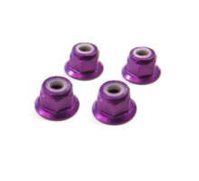 (02190) M4 Purple Alum Nut 4P